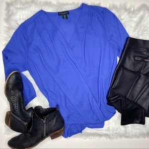 Nordstrom Cynthia Rowley Blue Blouse Med